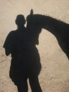 Best Bud Mare and I, observing our shadows.