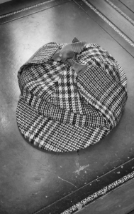 The infamous deerstalker hat.