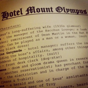 Title and cast list of Hotel Mt. Olympus.