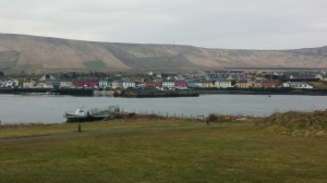 Village across the bay, near Skellig Michael Information Center.