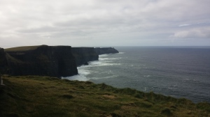 The Cliffs of Moher, to my left as I look our at the Atlantic Ocean.