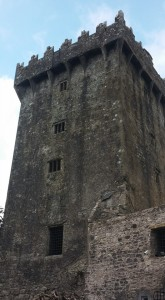 If you look carefully at the top, you'll see iron brackets. On the opposite side is the Blarney Stone.