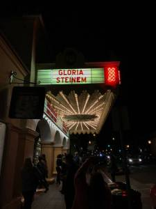 The theater marquee where I attended the lecture.